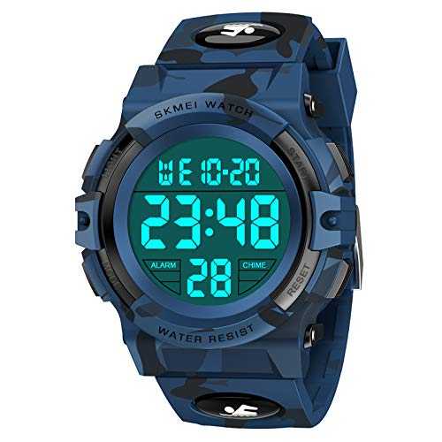 Boys Watches Ages 7-10, Dreamingbox Waterproof Sports Watches for Boys Digital Watches for Boys Kids Watches Birthday Christmas Halloween Gifts for 6-13 Year Old Boys Stocking Fillers DB Camouflage