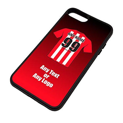 Funda para iPhone 7/8, diseño de club de fútbol, color negro