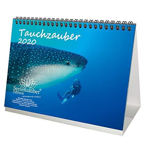 Calendario de inmersión DIN A5 para 2020 bajo el agua y buceo y 1 tarjeta de regalo