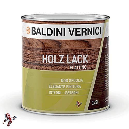 Flatting per legno trasparente Baldini Vernici Holz Lack 750 ml lucido e opaco flatting per barche flatting per imbarcazioni flatting per legno lucido flatting per legno opaco (TRASPARENTE OPACO)