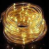 XUNATA Luces Solares Cadena, Impermeable Iluminación al Aire...