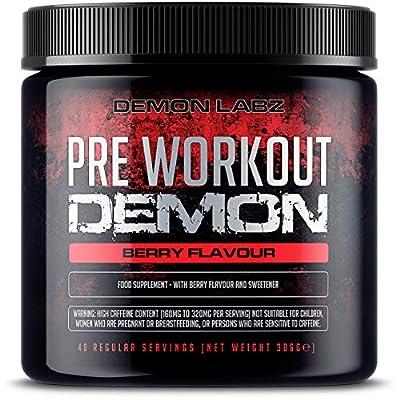 Pre Workout Beast (Berry Flavour) - Hardcore pre-Workout Supplement with Creatine, Caffeine, Beta-Alanine and Glutamine by demon Labz