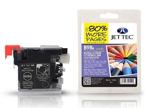 Black XL Patrone für Brother MFC 5490 CN von Jettec, kompatible Tintenpatrone, 18 ml, für MFC5490CN