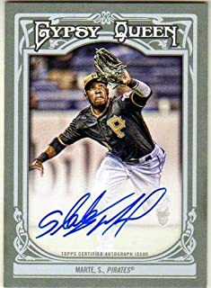 2013 Topps Gypsy Queen Autographs #SM Starling Marte Autograph Card