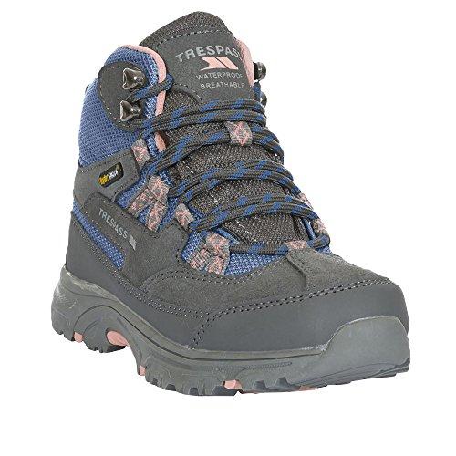 Trespass Cumberbatch - Chaussures de randonnée imperméables - Enfant Unisexe (28 EU) (Gris/Bleu/Rose)
