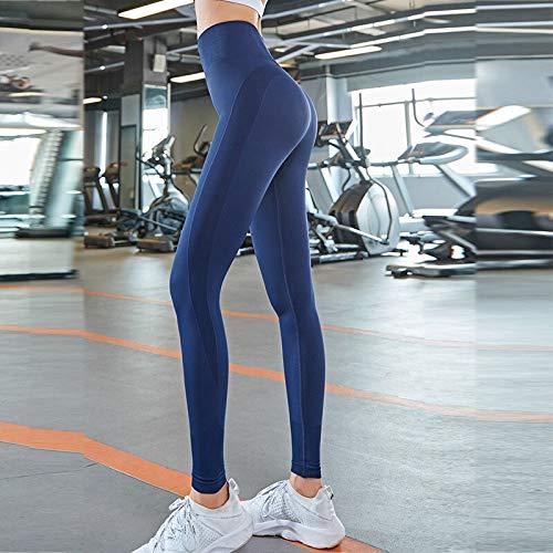 Opprxg Hoch taillierte Yogahosen Nahtlose Gymnastikgamaschen Damengamaschen Workout gestreifte Fitness Sportswear Stretch Trainingshose