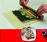 PAT & DORIS Deluxe Plastic Sushi Mat Non Stick Sushi Rolling...