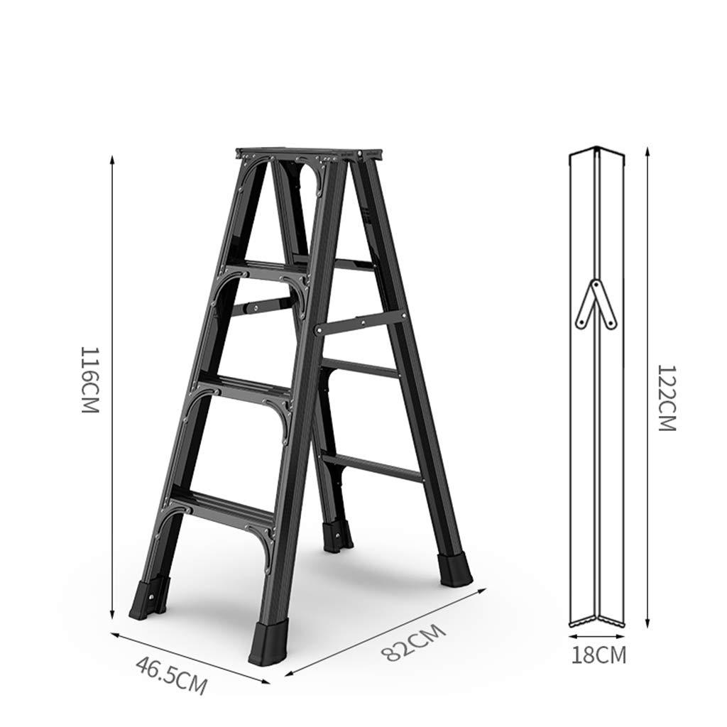 ROMA LT Escalera, Escalera De Aluminio Escalera Espesó Proyectos De Vivienda del Discurso Plegable Multipropósito Escalera De Pasos Interiores,A: Amazon.es: Hogar