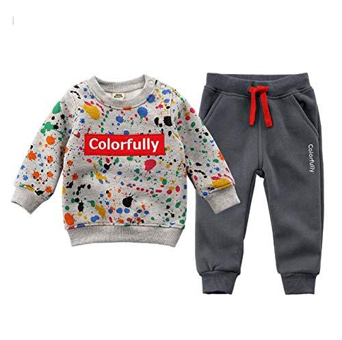 Peuter Kids Trainingspak Joggingpak 2 Stks Set Baby Meisjes Jongens Lange Mouw Crew Neck Fleece Sweater Top + Broek Set Outfits Kleding voor 1-6 Jaar Oud