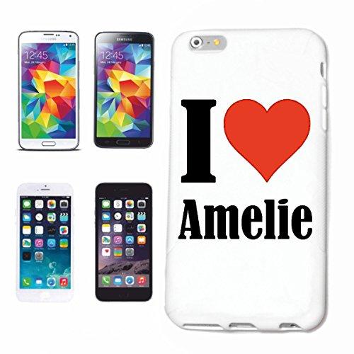 Reifen-Markt Etui pour téléphone Portable Compatible pour iPhone 5 / 5S I Love Amelie - l'affaire du téléphone n'est Pas de Apple Produit ou Vendu