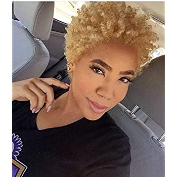 Amazon Com Naseily Short Blonde Hair Wigs For Black Women Short Synthetic Wigs For African American Women Wigs Short Hairstyles Blonde Beauty