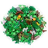 Plants Tree Accessories Forest Jungle Flower Pieces Building Blocks Set Garden Grass Park House Leaf Parts Bricks Toy (Without Baseplate)