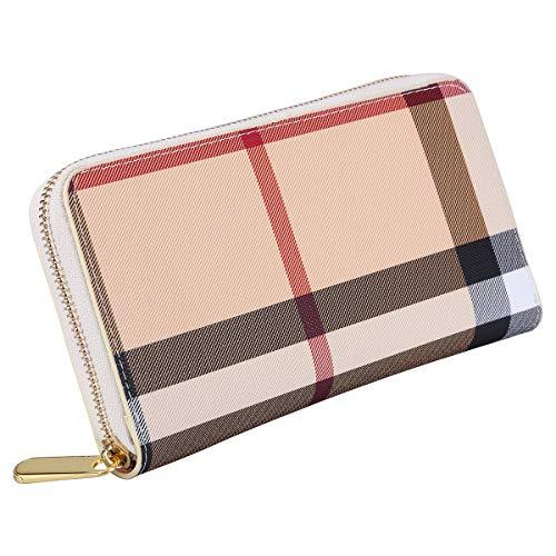 Damen Geldbörse Kreditkartenhalter Geldbeutel Kreditkartenetui Kreditkartentaschen (Beige)