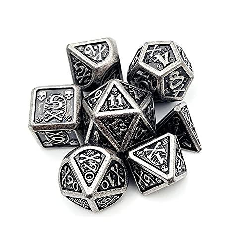 World of Dice Metall-Würfelset Rainbow Rosa - Pen & Paper Metallwürfel, W4, W6, W8, W10, W10.0, W12, W20, Rollenspiel-Würfel für Dungeons and Dragons