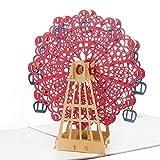 Biglietto Auguri Pop Up 3D, ZWOOS Romantico d'Auguri Carta Cartolina per San Valentino Noz...