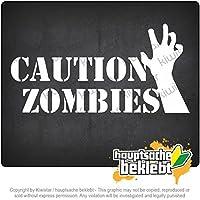 注意ゾンビ Caution Zombies 20cm x 6cm 15色 - ネオン+クロム! ステッカービニールオートバイ