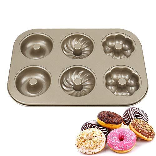 Donut Form Donut Formen Kuchenform Donutform Kuchenblech Hohlraum Donut Pans Selbstgebackene Donuts 6 Hohlraum Antihaft Backblech Maker Pfanne Hitze Widerstand Für Kuchen Biscuit Bagels Muffins
