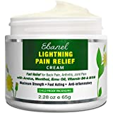 Ebanel Pain Relief Cream, 2.28 Oz Arnica Menthol Arthritis Pain Relief Muscle Rub with MSM, Emu Oil, Hemp Oil, Anti Inflammatory Cream with Camphor, Boswellia for Back Pain, Neck Shoulder Joint Pain