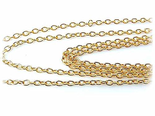 2 m Gliederkette in goldfarben, 3 x 4 mm von Vintageparts, DIY-Schmuck