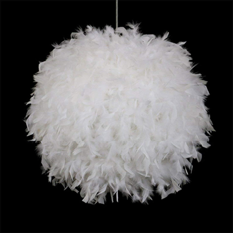 Feather Pendelleuchte Weiß Hanging Lamp Kinderzimmer Hngelampe Ball für Loft Schlafzimmer Studie Etc E27 Single Flame 45  45  150