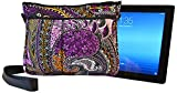 NuPouch Shock Absorbent Carrying Case for iPad, Samsung, Fire, PC Tablets - Non-Retail Packaging - Paisley