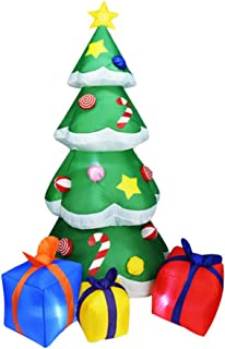 Wnvivi 6.9Ft Inflatable Christmas Tree, Inflatable Xmas Tree, Air Blown Christmas Tree with Gift Boxes for Home Indoor Out...