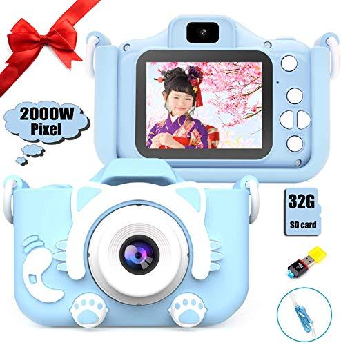 京都雷鳥 子供用 デジタルカメラ トイカメラ 子供プレゼント 2000万画素 子供カメラ 子供用カメラ キッズカメラ 子供がスマホのカメラ 子供用のカメラ 子供専用のカメラ 可愛いデジタルカメラ 子供専用デジタルカメラ 自撮可能 2000万画素 2インチ