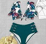 Eantpure Bikinis Mujer 2054 Push up Bikini,Moda Delgada cómoda y Sexy, Cintura Alta con Volantes, Traje de baño Dividido-B_Large,Tangas Swimsuit