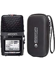 Zoom H2n - Grabadora de audio portátil y funda blanda Keepdrum