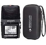 Zoom H2n - Grabadora de audio portátil con funda keepdrum Soft-Case