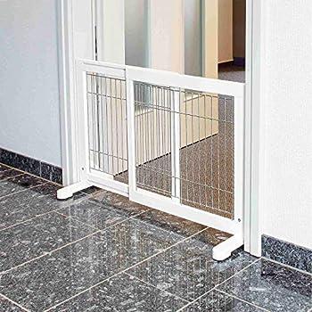 TRIXIE Barrière pour Chien Blanc 65 x 108 × 61 cm