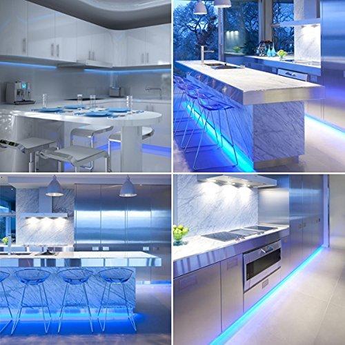 Blue Led Strip Light Set For Kitchens Under Cabinet Lighting