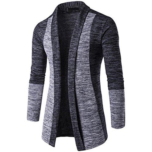 Cárdigan Hombre, Xinan Suéter de otoño Invierno para Hombres Chaqueta de Punto Knitwear Cardigan Sudadera con Capucha Casual