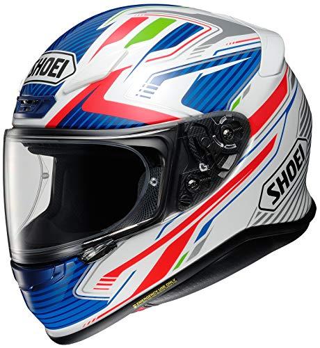 Shoei Helm NXR Stab TC-2 weiß blau rot Motorradhelm Integralhelm, XL