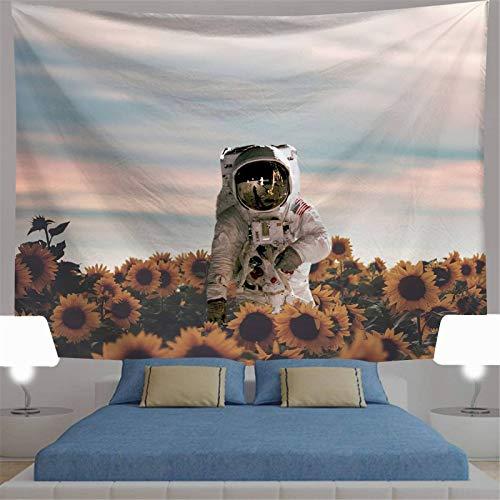 Tapiz De Pared,Indio Hippie Tapices Astronauta Creativo Y Girasol Indias Trippy Bohemia Colgante De Pared Decoración De Pared Para Dormitorio Sala De Estar Toalla De Playa,78.7×59.1Inches,200×150