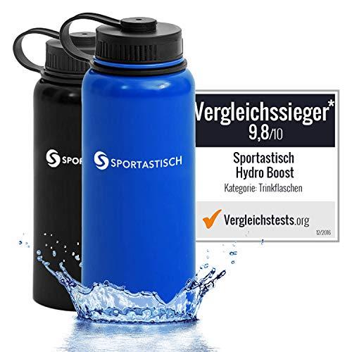 Sportastisch AUSGEZEICHNET¹ Trinkflasche Hydro Boost, 950ml Wasserflasche Thermosflasche aus Edelstahl, Vakuum Isolierflasche für Kinder Sport Fahrrad mit bis zu 3 Jahren Garantie² (ähnlich 1l)