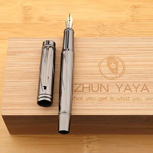 ZHUN YAYA Fountain Pen sets for men gift Iridium pen nib with Nice Bamboo Box