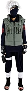 Naruto Cosplay Accessories Kakashi Hatake 3pcs Set Suit Military Style Outfit