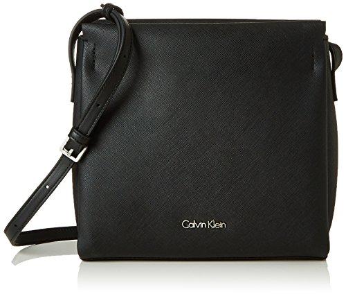 Calvin Klein M4RISSA Flat Crossbody, Sacchetto Donna, Nero (Black), 22x7x23 cm (b x h x t)