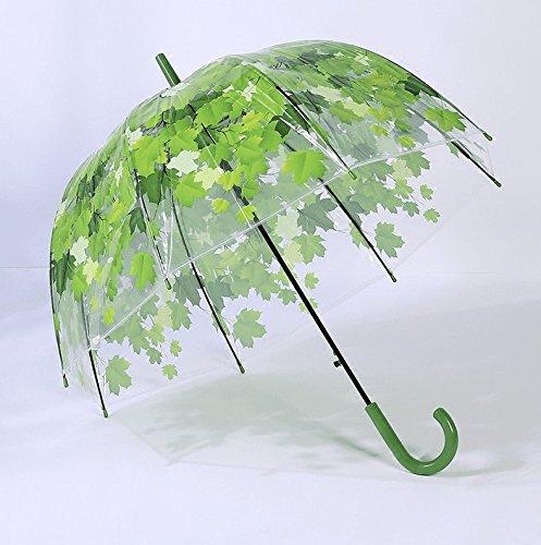 ZZSIccc Personifizierte Kreative Blätter Transparente Regenschirme Lange Stamm-Rosen, Ahornblatt-Regenschirme Pilz-Prinzessin, Das C.