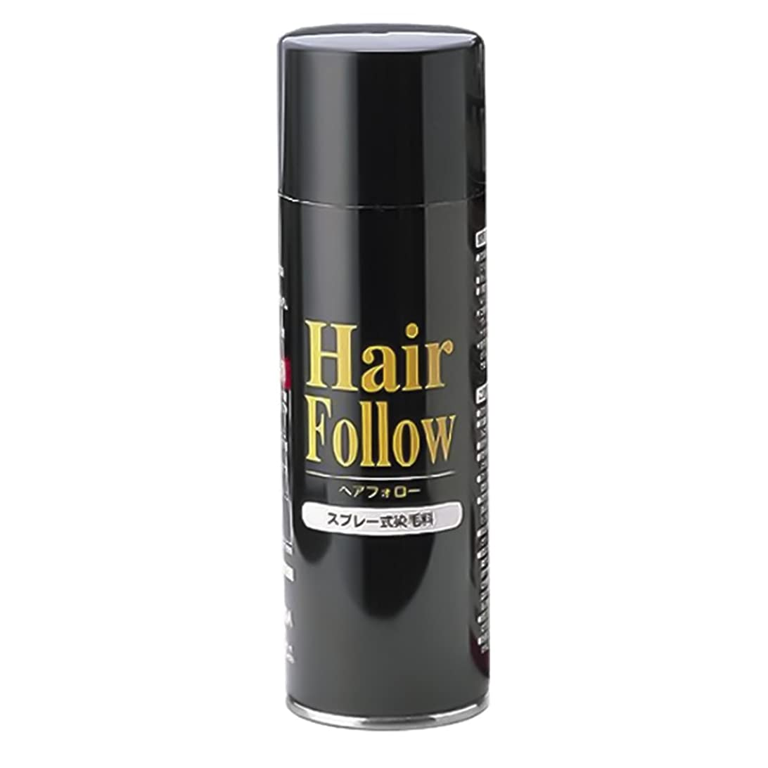 マグためらうスカリー薄毛スプレー ヘアフォロー HairFollow ブラック 150g