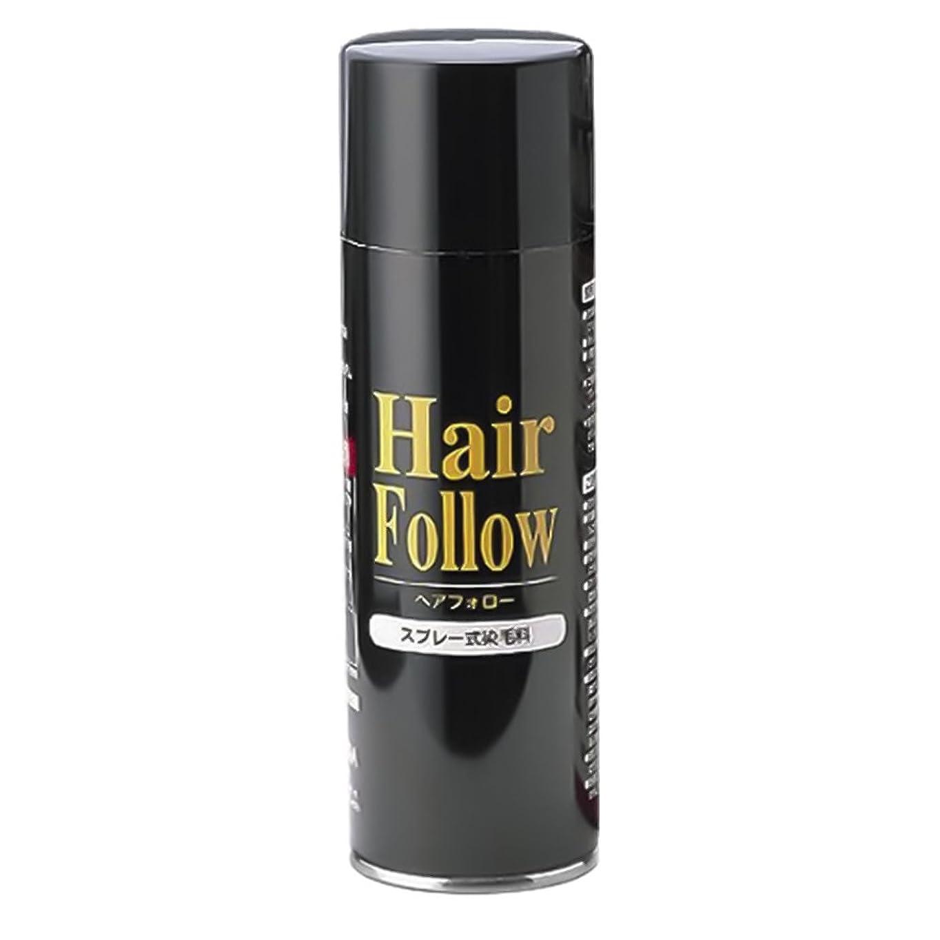 刺す朝ごはん高層ビル薄毛スプレー ヘアフォロー HairFollow ブラック 150g