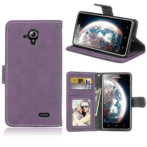 BgkjZX Lenovo A536/A538T Case - for Lenovo A536/A538T Matte leather case cover,Anti-fall flip card slot phone case - purple
