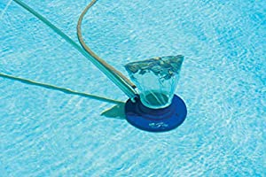 Specifically for removing large leaves and dirt and debris from pools; see item # 28008, Jet Vacuum for easy pick up of small debris Large, 15 inch diameter vacuum with handle made of durable ABS Underside features 8 high-pressure water jets and 4 mu...