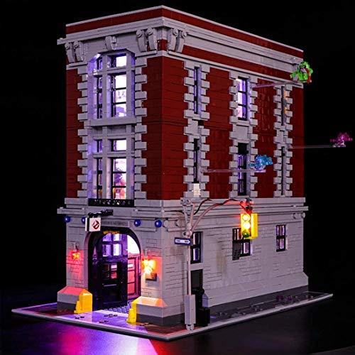 Knoijijuo La Luz LED De Iluminación De Luz para Lego Cazafantasmas La Sede del Parque De Bomberos 75827 (No Incluido Modelo De Lego)
