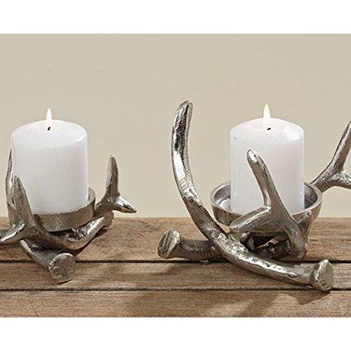 Kerzenständer Kerzenleuchter Metall Geweih Advent Tischdeko Leuchter