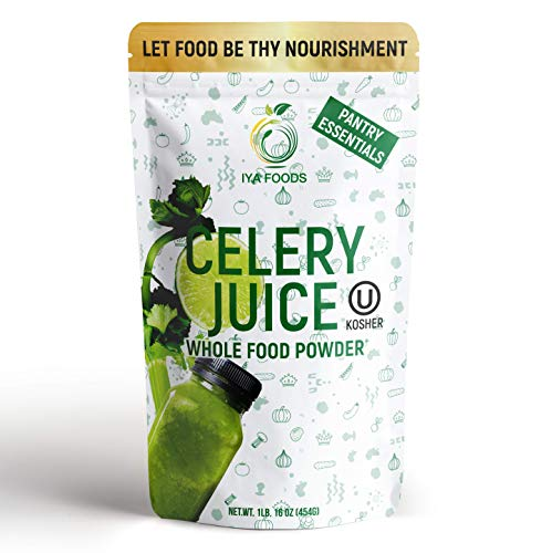 100% CELERY WHOLE FOOD – Our celery juice powder is made from one ingredient only i.e. celery juice. Plant-Based, Non-GMO, Gluten-free naturally powerful whole vegetable powder