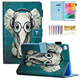 Galaxy Tab A 8.0 inch Case, T290 T295 T297 Case, Dteck PU Leather Folio Multi-Angle Viewing Full Body Protection Case for Samsung Galaxy Tab A 8.0 inch T290 T295 T297 2019 Release, Doctor Elephant
