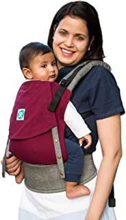 Kol Kol Baby Carrier Bag, 100% Hand Woven Cotton, Light-Weight, Safe & Ergonomic Baby Carry Bag with Hood & 2 Carry Positi...