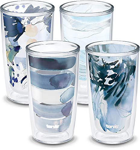 Tervis Kelly Ventura - Crystal Insulated Tumbler, 16oz-4pk, Blue Collection